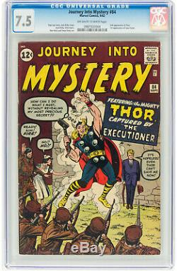 Journey Into Mystery #84 CGC 7.5 1962 2nd Thor! 1st Jane Foster! K5 984 cm