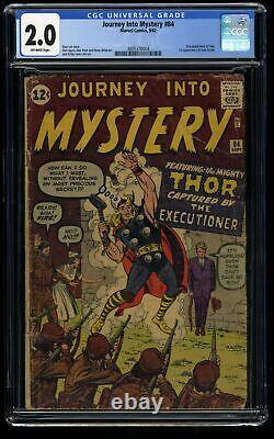 Journey Into Mystery #84 CGC GD 2.0 Off White 2nd Thor 1st Jane Foster