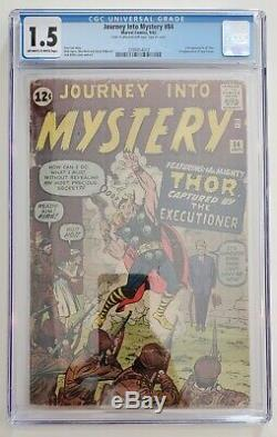 Journey Into Mystery #84 Cgc 1.5 1962 2nd Appearance Of Thor, 1st Jane Foster