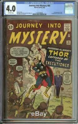 Journey Into Mystery #84 Cgc 4.0 Ow Pages