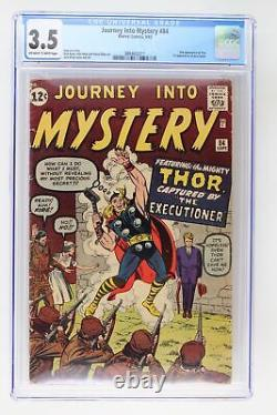 Journey Into Mystery #84 Marvel 1962 CGC 3.5 2nd Appearance of Thor. 1st Appea