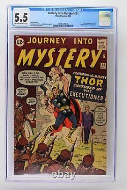 Journey Into Mystery #84 Marvel 1962 CGC 5.5 2nd Appearance of Thor. 1st Appea