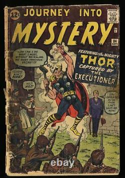Journey Into Mystery #84 Marvel Comics 2nd Thor Low Grade Complete