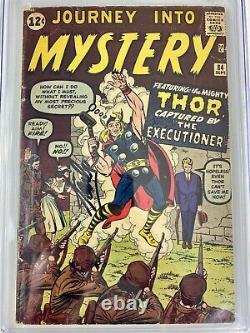 Journey Into Mystery 84 cgc 3.5 ss Stan Lee 1a Jane Foster (new Thor) 2a Thor