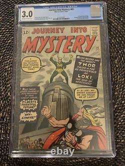 Journey Into Mystery #85 (1962) CGC 3.0 1st Loki owithwhite pages Disney+
