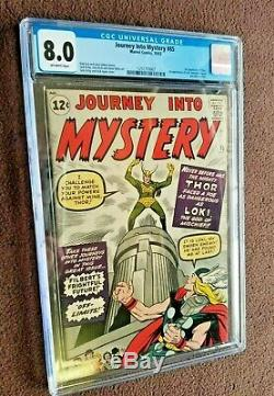 Journey Into Mystery # 85 1962 Cgc 8 1st Loki Heimdall Asgard Odin 3rd Thor