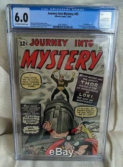 Journey Into Mystery #85 1st App Loki Heimdall Odin Cameo Asgard CGC 6.0 OWW