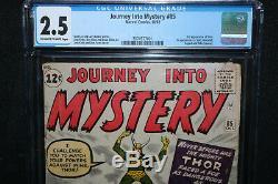 Journey Into Mystery #85 3rd App Thor 1st Loki, Odin, Asgard CGC 2.5 1962