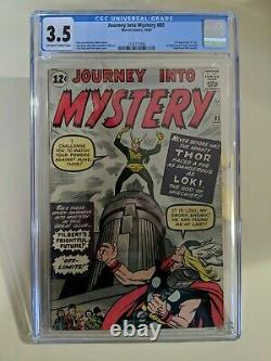 Journey Into Mystery 85 3rd Thor and 1st App of Loki Graded CGC 3.5 Ow-w #85