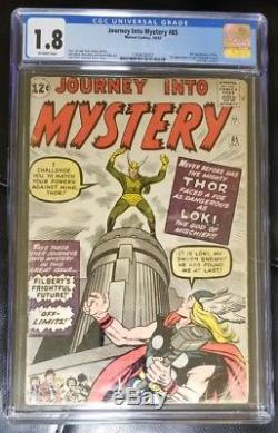 Journey Into Mystery #85 CGC 1.8 Off-White 1st Appearance Loki! Thor 83 84