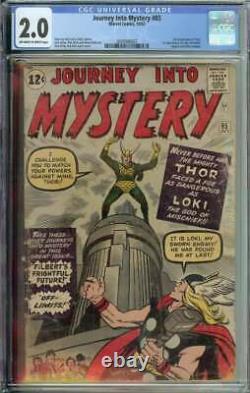 Journey Into Mystery #85 CGC 2.0 1st App Loki 3rd Thor