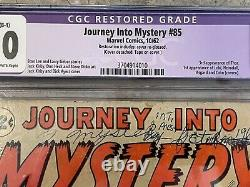 Journey Into Mystery #85 CGC 2.0 1st appearance of Loki KEY ISSUE B-1