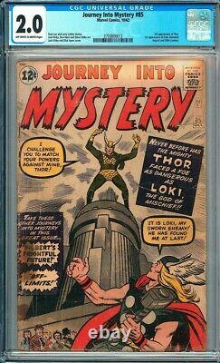 Journey Into Mystery #85 CGC 2.0 1st appearance of Loki! KEY ISSUE! L@@K