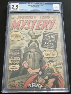 Journey Into Mystery #85 CGC 2.5 GD+ OW 1st Appearance Loki, Odin, Heimdall