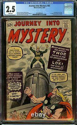 Journey Into Mystery #85 CGC 2.5 White Pages 1st Appearance of Loki 3rd Thor