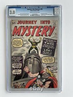 Journey Into Mystery #85 (CGC 3.0) 1st appearance LOKI Thor Avengers 1962 Marvel