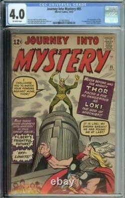 Journey Into Mystery #85 CGC 4.0 1st App Loki 3rd Thor