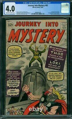 Journey Into Mystery 85 CGC 4.0 OWithW Pages