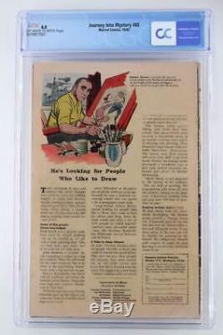 Journey Into Mystery #85 CGC 4.0 VG Marvel 1962 1st App Loki