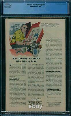 Journey Into Mystery 85 CGC 4.5 WHITE pages (1962) 1st Loki