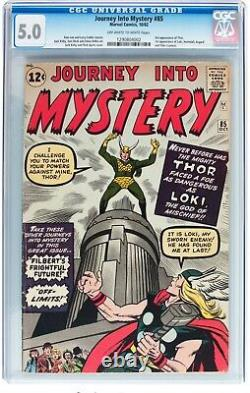 Journey Into Mystery #85 CGC 5.0 OWithW 1st App Loki 3rd Thor