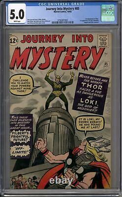 Journey Into Mystery #85 CGC 5.0 (W) 1st Appearance of Loki