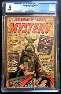 Journey Into Mystery #85 CGC. 5 1st LOKI! MCU! Disney plus! 3rd app THOR