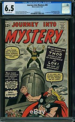 Journey Into Mystery #85 CGC 6.5 1962 1st Loki! 3rd Thor! Avengers! H5 145 1 cm