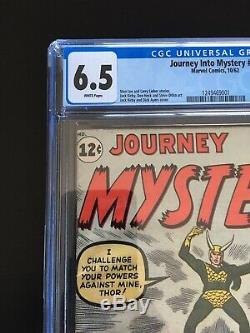 Journey Into Mystery 85 CGC 6.5 WHITE Pgs. 1st Loki No Reserve See My Tos 39
