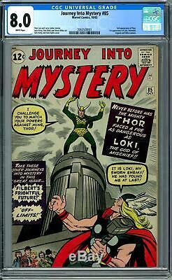 Journey Into Mystery #85 CGC 8.0 (W) 1st Appearance of Loki