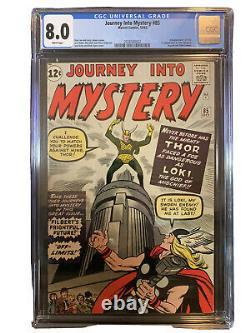 Journey Into Mystery #85 CGC 8.0 White Pages Silver Age 1st Appearance Loki