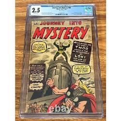 Journey Into Mystery #85 Cgc 2.5 Thor 1st Loki Odin Heimdall Disney+