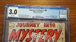 Journey Into Mystery #85 Cgc 3.0 Vg/gd 1st Appearance Loki! Thor