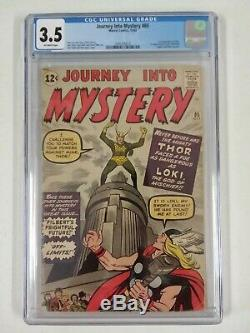 Journey Into Mystery #85 Cgc 3.5 1st Loki