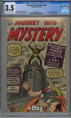Journey Into Mystery #85 Cgc 3.5 Thor 1st Loki Odin