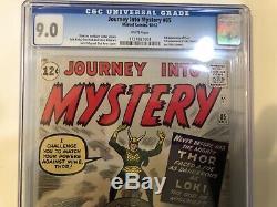Journey Into Mystery #85 Cgc 9.0 White 1st Loki Heimdall, Asgard Odin Cameo Thor
