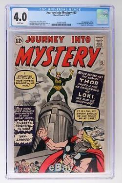 Journey Into Mystery #85 Marvel 1962 CGC 4.0 1st App Loki! 3rd App Thor