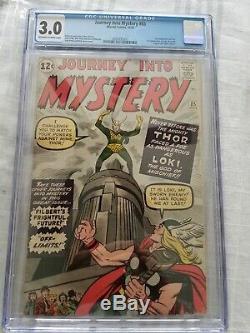Journey Into Mystery #85 Thor Cgc 3.0 Vg/gd 1st Appearance Loki