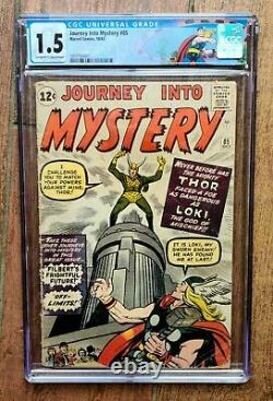 Journey Into Mystery #85 white page 1st Appearance of Loki and Heimdall CGC 1.5