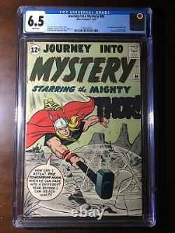 Journey Into Mystery #86 (1962) 2nd Odin! 4th Thor! CGC 6.5 White Pages