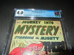 Journey Into Mystery 86 CGC 4.0, 2nd Odin -Marvel 1962 Off White Pages (MC)