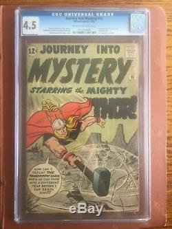 Journey Into Mystery 86 CGC 4.5 OWithW Thor Odin Jack Kirby Stan Lee Unpressed