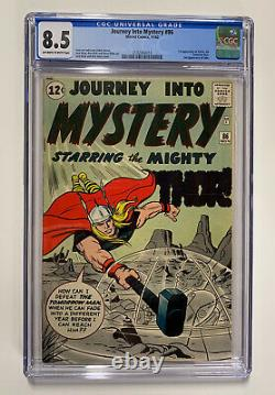 Journey Into Mystery 86 Cgc 8.5 Owithw Pages Marvel Silver Age