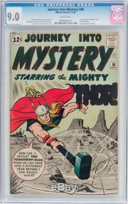 Journey Into Mystery #86 Cgc 9.0 White Pages Classic 4th App Thor #0976964007