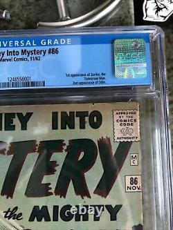 Journey Into Mystery #86, First Tomorrow Man, 2nd Odin, CGC 6.0 THOR MARVEL