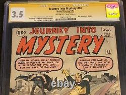 Journey Into Mystery #88 CGC 3.5 Signed Stan LEE 2nd App of Loki 1 of 18 SS