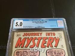 Journey Into Mystery #88 CGC 5.0 2nd Loki Appearance! Early Thor Kirby OWithW