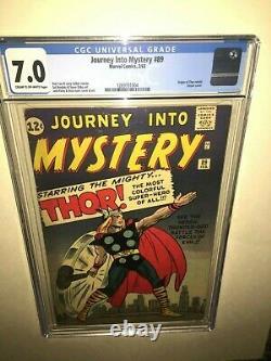 Journey Into Mystery 89 CGC 7.0 Origin of Thor Retold /Classic Cover VERY RARE