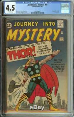 Journey Into Mystery #89 Cgc 4.5 Ow Pages