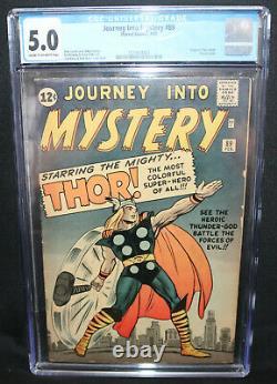 Journey Into Mystery #89 Origin of Thor Retold CGC Grade 5.0 1963